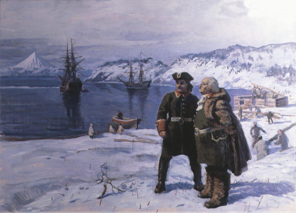 И. Пшеничный. В. Беринг и А. Чириков в Петропавловске