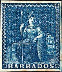 Первая марка Барбадоса