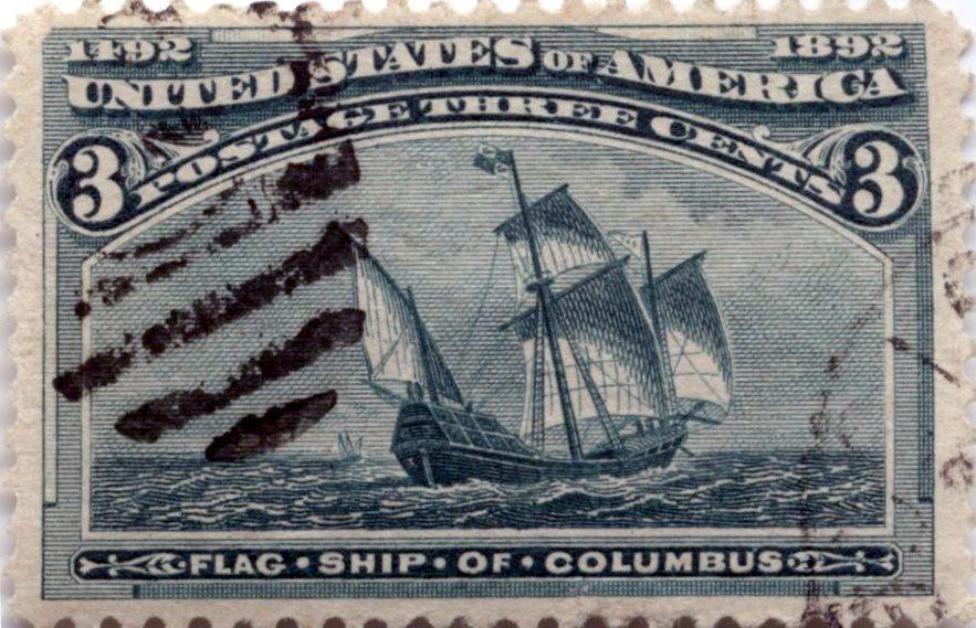 Марка Колумбовская серия, 1893