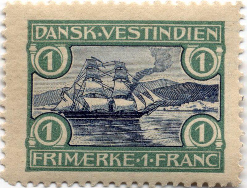 Марка Датская Вест-Индия 1905