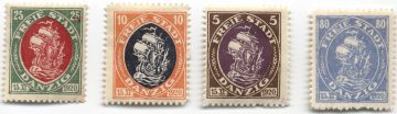 Почтовые марки Вольного города Данциг, 1921