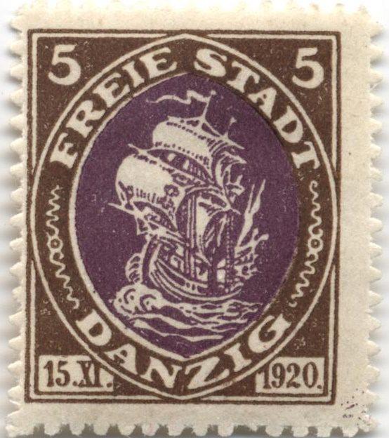 Марка Данциг 1921