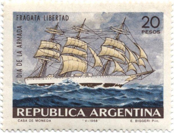 Марка фрегат Libertad Аргентина