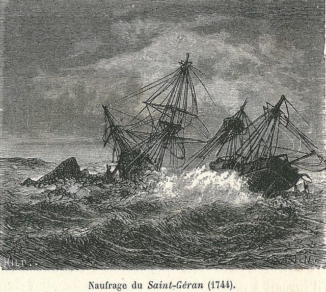 Крушение Saint Geran 1764