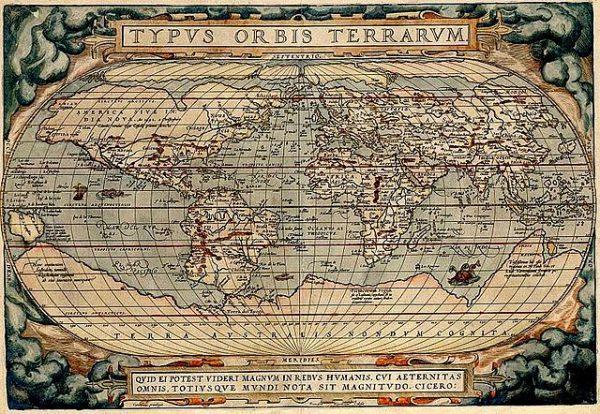 Карта Абрахама Ортелия (1589)