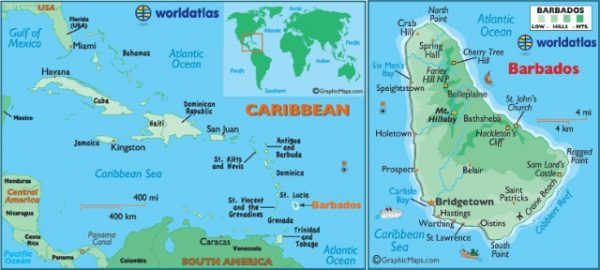 Барбадос карта