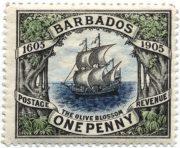 Марка Барбадос 1906