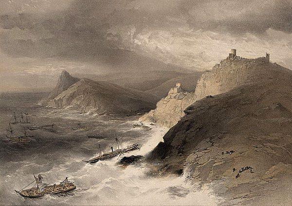 Шторм в Балаклавской бухте 14 ноября 1854 года