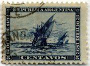 Марка Аргентины 1893 Колумб