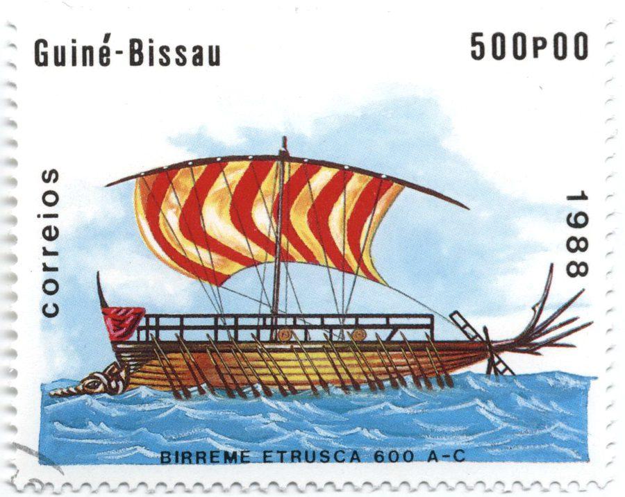 История парусного флота на марках – Бирема