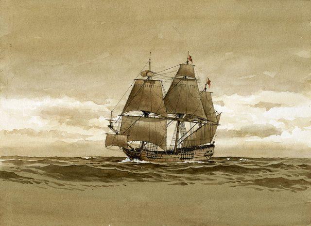 Concord. Рисунок Richard Schlecht, 1982