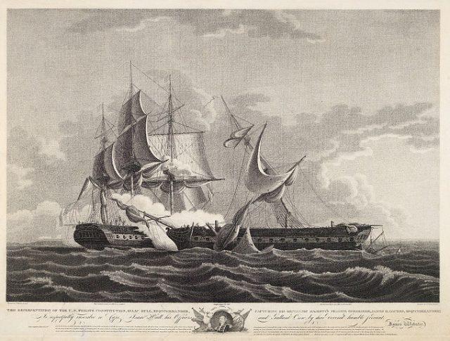Бой Constituion и британского фрегата