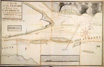 Карта фарватера реки Святого Лаврентия, составленная Джеймсом Куком