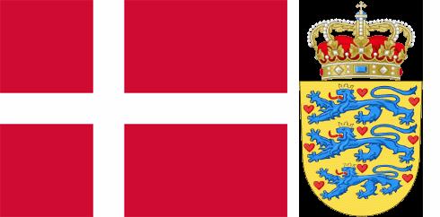 Дания флаг и герб