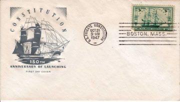 USS Constitution - Конверт первого дня, 1947