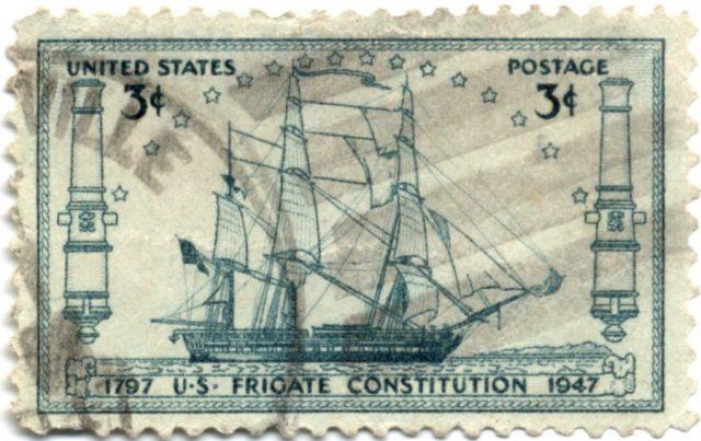 Фрегат Constitution - марка США