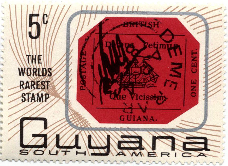 Британская Гвиана – самая дорогая марка с изображением парусника