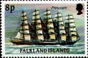 Марка парусник Пруссия - Фолклендские острова