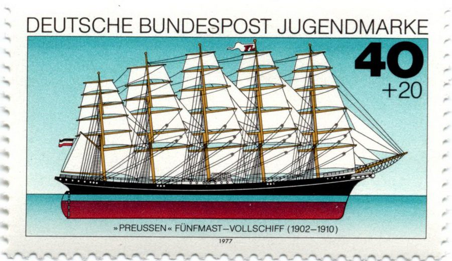 Винджаммер Preussen (Германия, 1977)