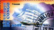 Парусник Preussen - марка Конго