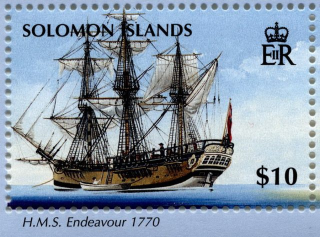 Марка парусник Endeavour