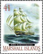 USS-Constitution марка Маршалловы острова