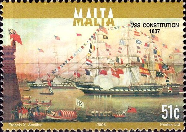 USS-Constitution марка Мальта