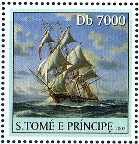 USS-Constitution марка Сан Томе и Принсипи