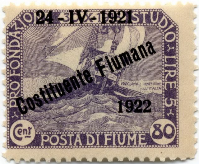 Марка Фиуме, 1921