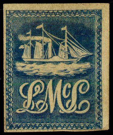 Марка Lady McLeod Тринидад 1847