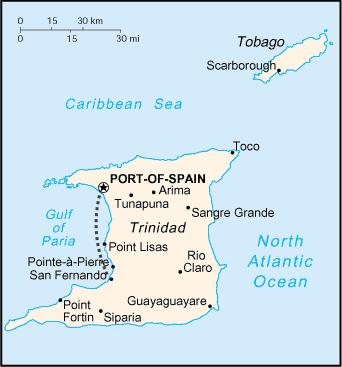 Карта Тринидада