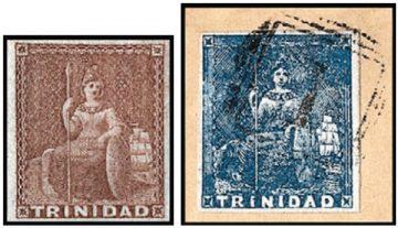 Первые марки Тринидада