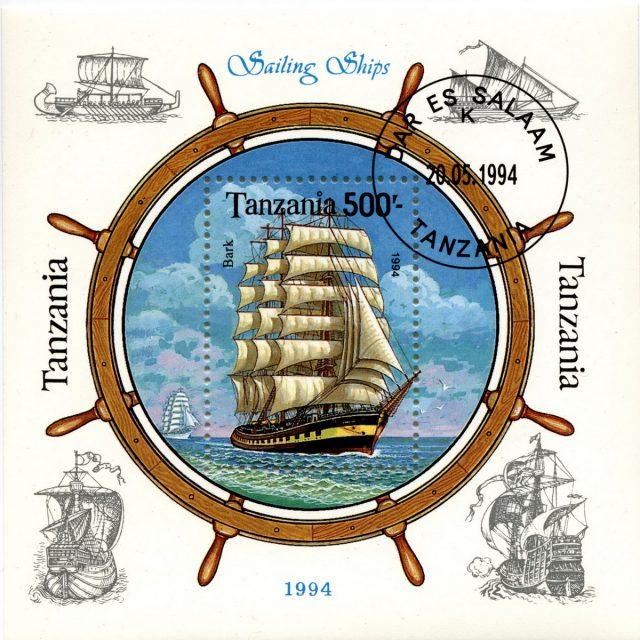 Парусник на марке Танзании