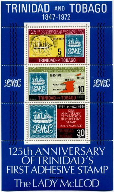 Блок марок Lady McLeod