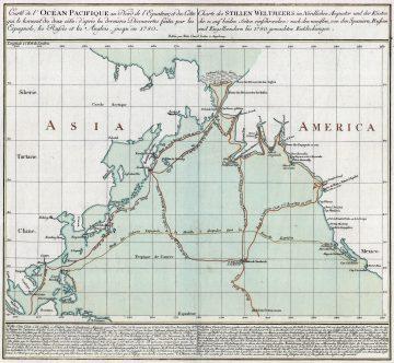 Джеймс Кук - третье путешествие карта