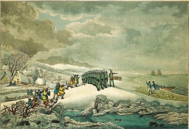 Прибытие Резолюшн и Дискавери в Петропавловск