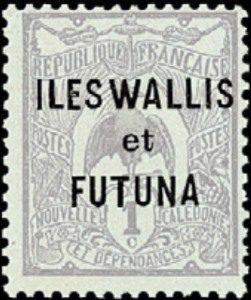 Первая марка Уоллиса и Футуны