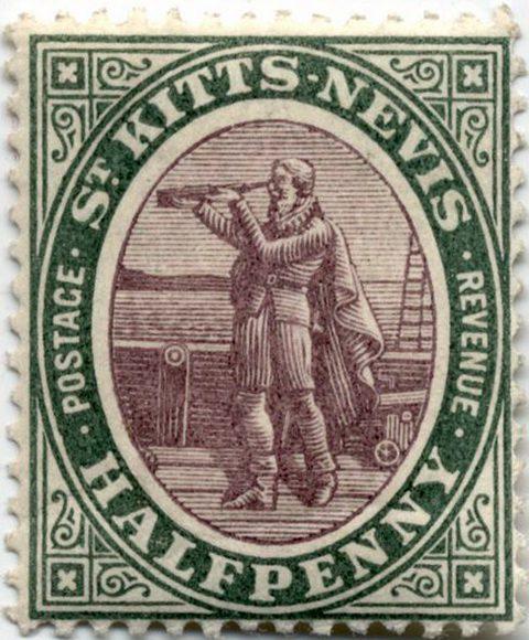 Сент-Киттс и Невис, Колумб и подзорная труба