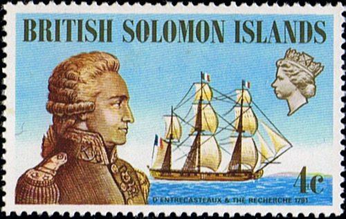 Британские соломоновы острова марка