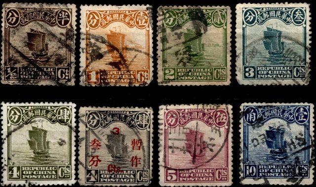 Китай марки джонка