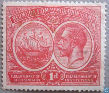 марка Бермудские острова 1920