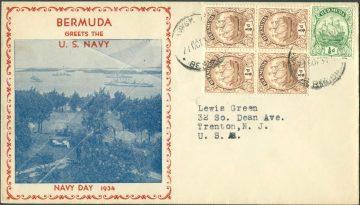 Бермудские острова марки на конверте