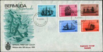 Марки кораблекрушения Бермудские острова