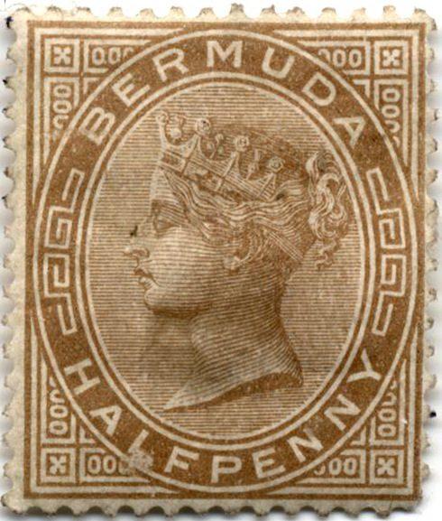 Королева Виктория. Марка Бермудские острова