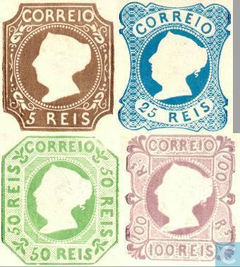 Первые марки Португалии