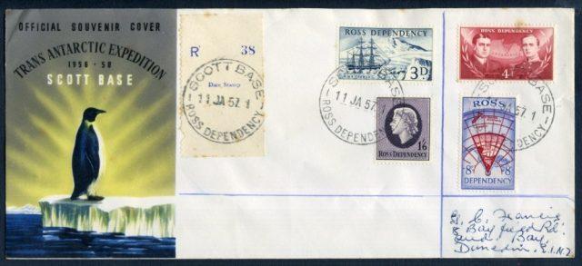 Территория Росса Конверт первого дня 1957