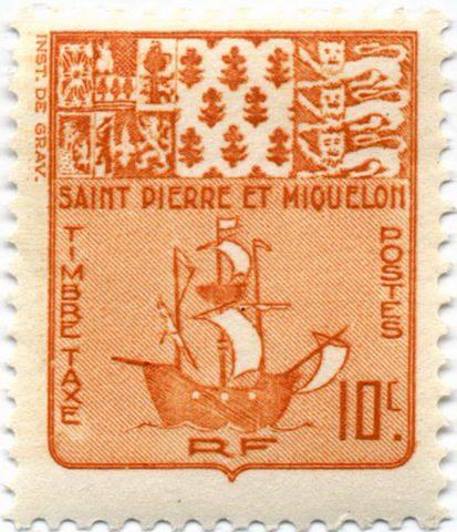марка Сен Пьер и Микелон 1947