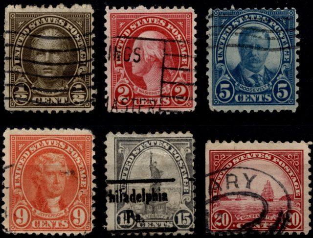 марки США 1922-1930