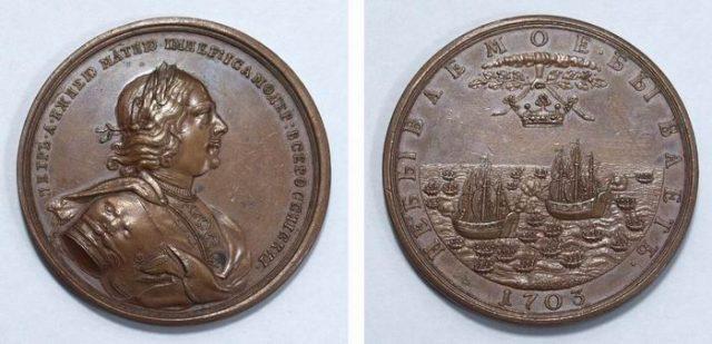 медаль победа над шведами 1703