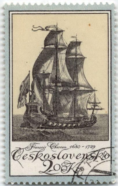 Чехословакия марка парусник